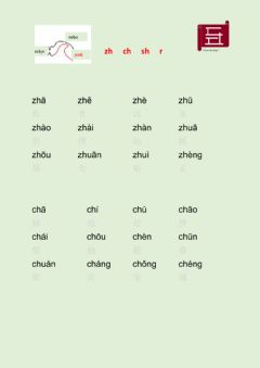 Interactive worksheet 汉语zh ch sh r 发音练习 Chinese zh ch sh r Pronunciation Practice