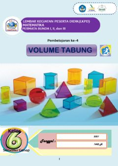 Interactive worksheet Volume Tabung