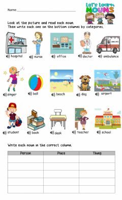 Interactive worksheet Nouns