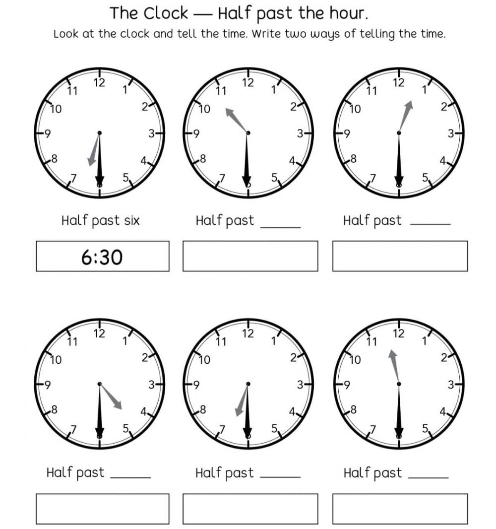 Telling Time 20 activity
