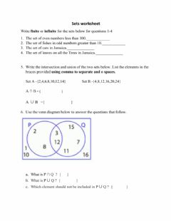 Interactive worksheet Sets grade 6