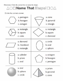Interactive worksheet 2 D shapes - polygons