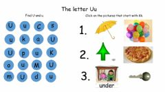 Interactive worksheet The Letter Uu
