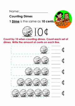 Interactive worksheet Counting Bahamian Dimes