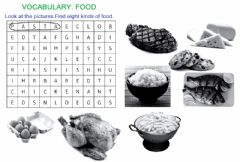 Interactive worksheet Vocabulary-food-wordsearch