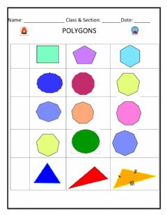 Interactive worksheet Polygons