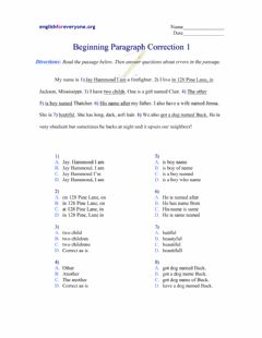 Interactive worksheet Paragraph Corrections -1