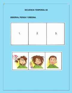 Interactive worksheet Secuencia Temporal 3A