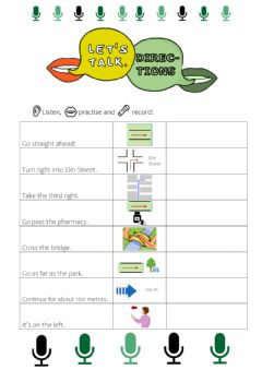 Interactive worksheet Giving Directions - Speaking Exercise