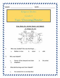 Interactive worksheet Overcoming Obstacles