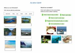 Interactive worksheet All about Water