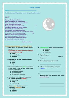 Interactive worksheet Silver