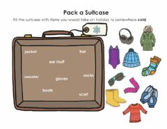 Interactive worksheet Cold and Warm Weather