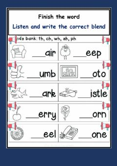 Interactive worksheet Special Sounds