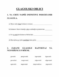 Interactive worksheet Glagolski oblici - 6.