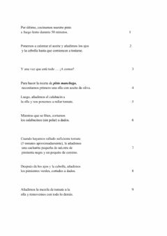 Interactive worksheet Ordenar receta
