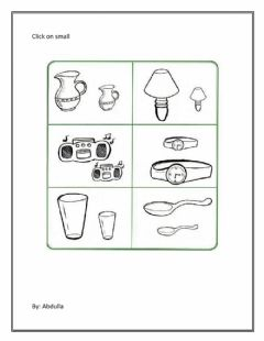 Interactive worksheet Find small