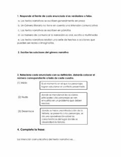Ficha interactiva Textos narrativos
