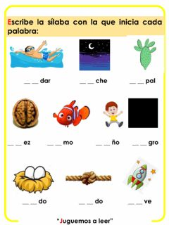 Interactive worksheet Lectoescritura