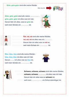 Interactive worksheet Farben-Lied