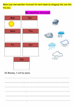 Ficha interactiva Making Own Weather Forecast Chart