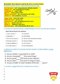 Interactive worksheet Adjectives and prepositions