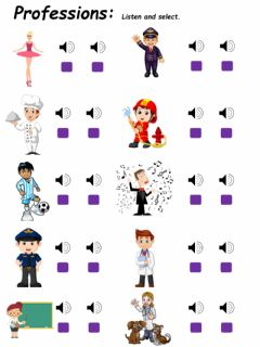 Interactive worksheet Professions 2