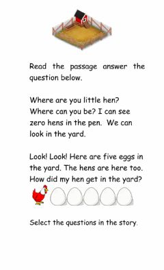 Ficha interactiva Reading Comprehension Passage Friday 8th