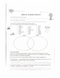 Interactive worksheet Abiotic VS Biotic
