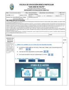 Interactive worksheet Evaluacion