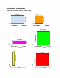 Interactive worksheet Perimeter Worksheet