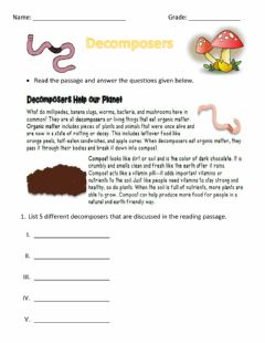 Interactive worksheet Decomposers
