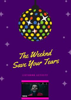 Interactive worksheet The Weeknd - Save Your Tears