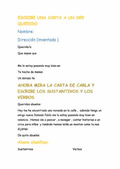 Interactive worksheet Escribe tu carta