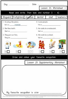 Interactive worksheet Get smart plus 3 M2 L25 W1