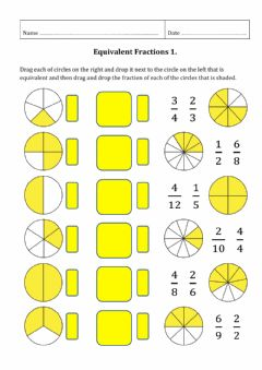 Interactive worksheet Equivalent Fractions 1