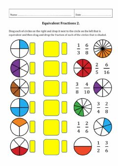 Interactive worksheet Equivalent Fractions 2