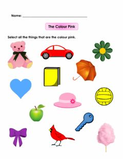 Interactive worksheet Colour Recognition- Pink