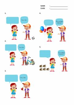 Interactive worksheet English Exercise for Grade 4 - Do you have .. ?