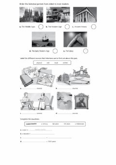 Interactive worksheet History periods, sources and time