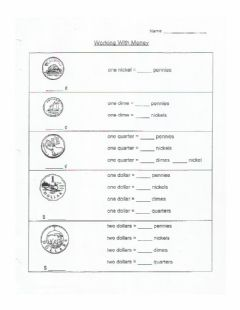 Interactive worksheet Working with Money (Canadian Currency