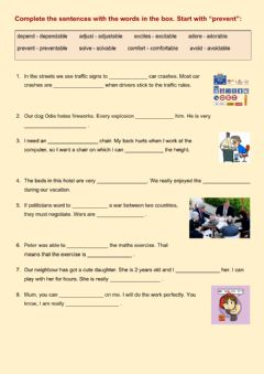 Interactive worksheet -able