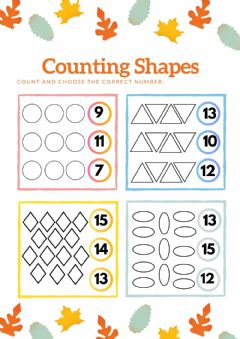 Interactive worksheet Counting shapes