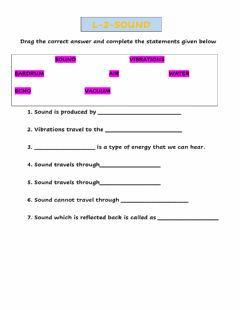 Interactive worksheet Sound