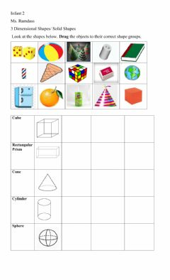 Ficha interactiva 3d Shapes-Solids