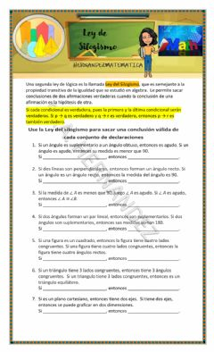 Interactive worksheet Ley de Silogismo