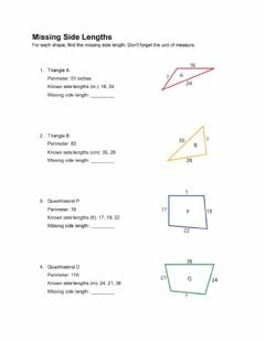 Interactive worksheet Missing Side Lengths