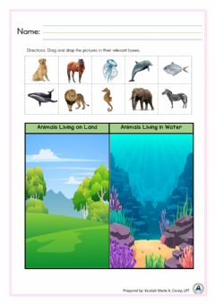 Interactive worksheet Animal Habitat