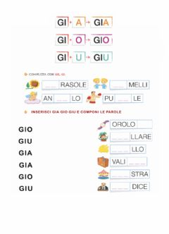 Interactive worksheet Gia-gio-giu