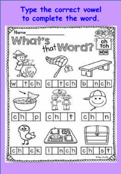 Ficha interactiva Phonics and spelling